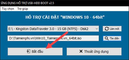 cai windows 10, 8.1, 7 tren cung usb